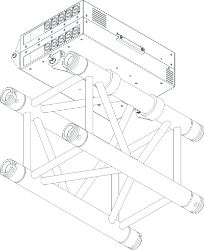 6 Position Truss Mount Solution for TD Series Modules with